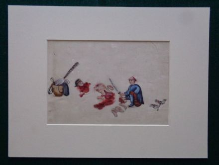 Antique Imperial China Chinese 19th Century Watercolour Torture Crime Punishment 4